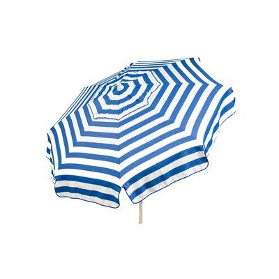 6 Italian Drape Umbrella Fabric: Blue / White