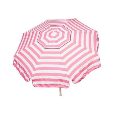 6 Italian Drape Umbrella Fabric: Pink / White