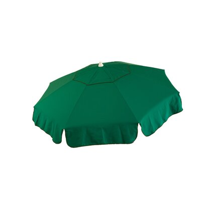 6 Italian Beach Umbrella Fabric: Green