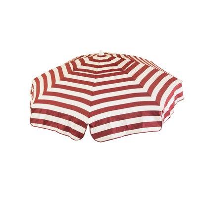 6 Italian Drape Umbrella Color: Cabernet / White
