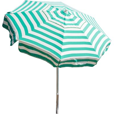 6 Italian Drape Umbrella Color: Jade Green/ White