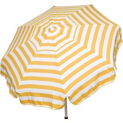 6 Italian Beach Umbrella Fabric: Yellow / White