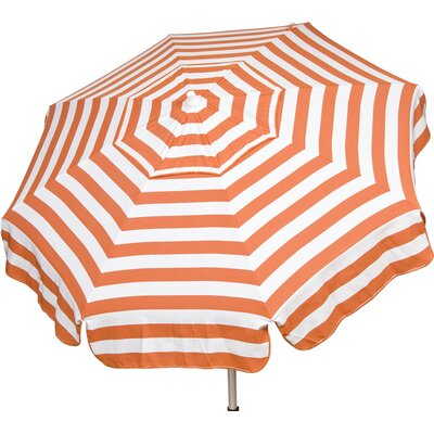 6 Italian Beach Umbrella Fabric: Orange / White