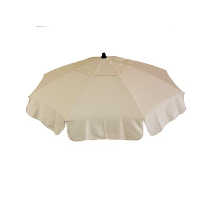 6 Italian Beach Umbrella Fabric: Natural