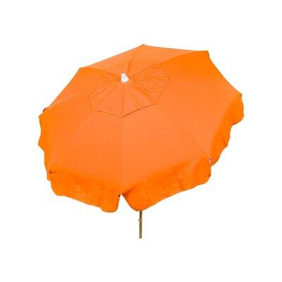 6 Italian Beach Umbrella Fabric: Orange