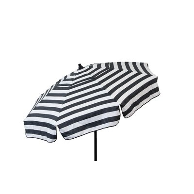 6 Italian Drape Umbrella Fabric: Black / White