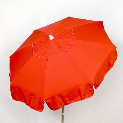 6 Italian Drape Umbrella Fabric: Red