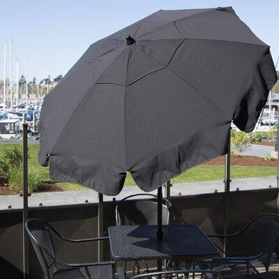 6 Italian Drape Umbrella Fabric: Black