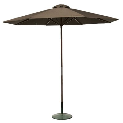 9 Market Umbrella Fabric: Chocolate