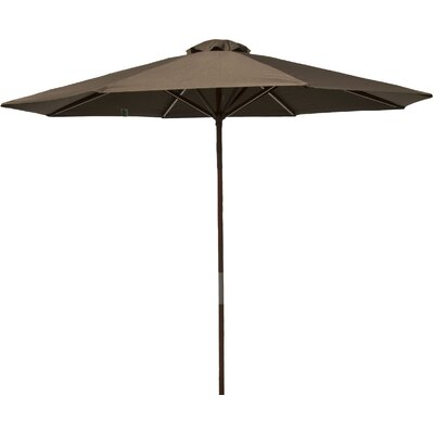 9 Market Umbrella Fabric: Chocolate