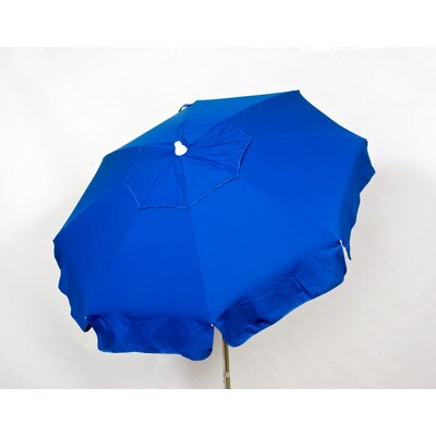 6 Italian Beach Umbrella Fabric: Blue