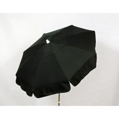 6 Italian Drape Umbrella Fabric: Black
