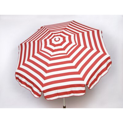 6 Italian Drape Umbrella Fabric: Red / White