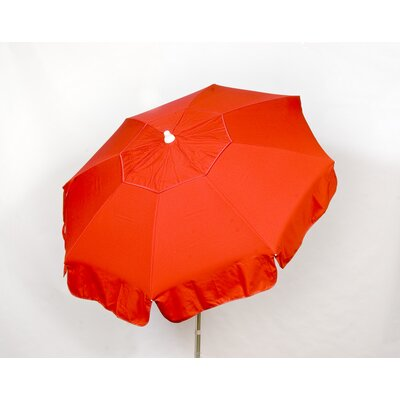 6 Italian Beach Umbrella Fabric: Red