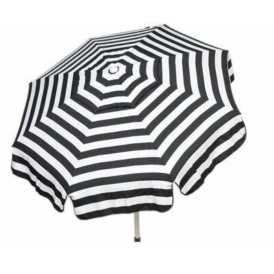 6 Italian Beach Umbrella Fabric: Black / White