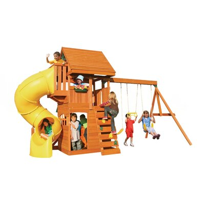 Big Backyard Cedar Summit Grandview Deluxe Wooden Play Set F24730