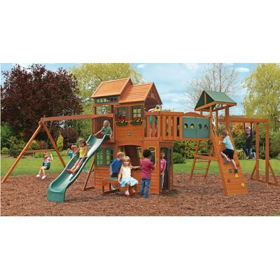 Big Backyard Cedar Summit Cedar Hill Resort Wooden Play Set F25668