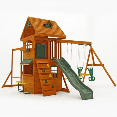 Big Backyard Ridgeview Deluxe Clubhouse Wooden Play Set F270855