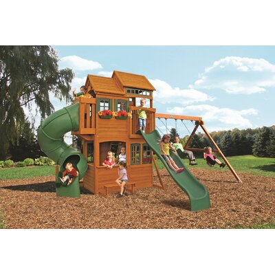 Big Backyard Cedar Summit Shelbyville Deluxe Wooden Play Set F25660