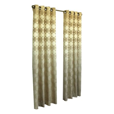 "Commonwealth Home Fashions Hologram Grommet Curtain Panel - Size: 63"" H x 52"" W, Color: Gold at Sears.com"