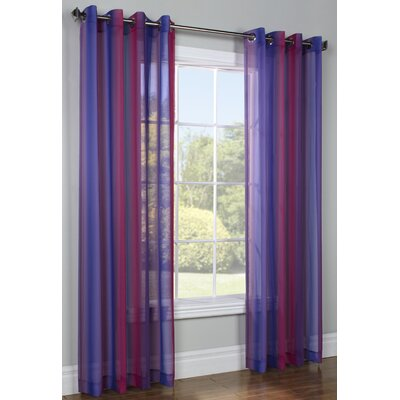 Commonwealth Home Fashions Rainbow Single Curtain Panel - Color: Pink