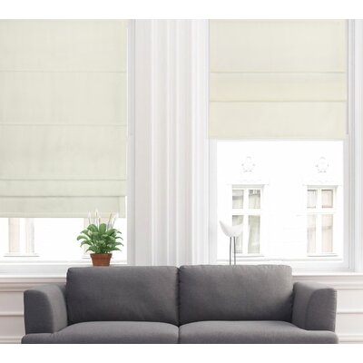 Lined Semi-Sheer Roman Shade Blind Size: 36 W x 63 L, Finish: Ivory