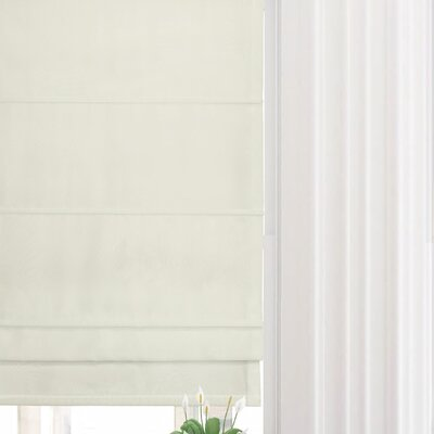 Lined Semi-Sheer Roman Shade Blind Size: 32 W x 63 L, Finish: Ivory