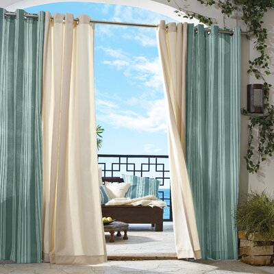 "Commonwealth Home Fashions Outdoor D�cor Stripe Grommet Curtain Single Panel - Size: 84"" H x 50"" W at Sears.com"