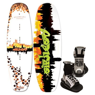 Image of Airhead Graffiti City Wakeboard with Grind Binding (AHW-3016)