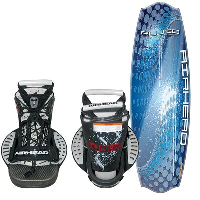 Image of Airhead Fluid 134cm Wakeboard with Clutch Bindings (AHW-4024)
