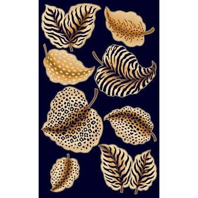 Skinz Animal Skin Leaf Area Rug
