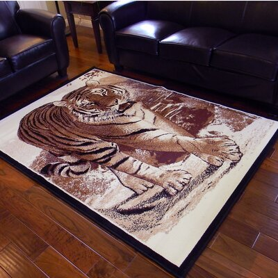 African Adventure Berber Tiger Walking Area Rug