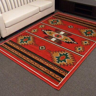 TajMahal Red Southwestern Rug