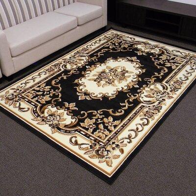 TajMahal Black Oriental Rug