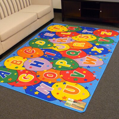 Paradise Alphabets Balloon Indoor Area Rug