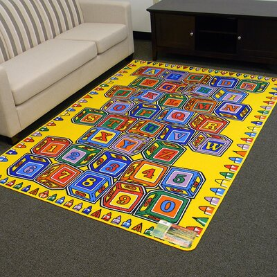 Paradise Alphabets Stacking Block Indoor Area Rug