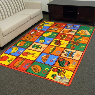 Paradise Alphabets Food Indoor Area Rug