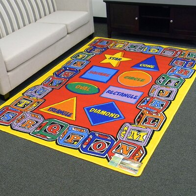 Paradise Alphabets Blocks and Shapes Indoor Area Rug