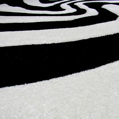 Hollywood Black and White Zebra Skin Area Rug
