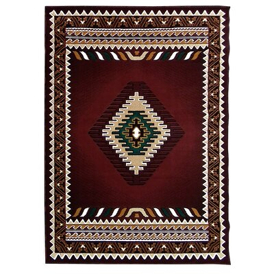Kingdom Burgundy Southwest Native American Area Rug
