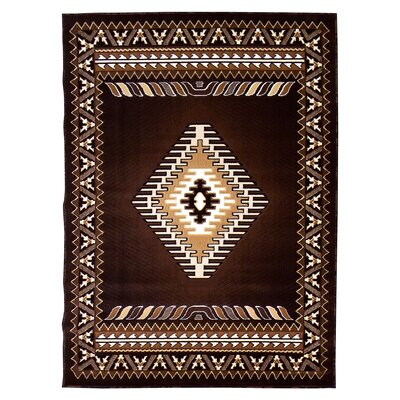 Kingdom Chocolate Southwest Native American Area Rug