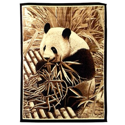 African Adventure Panda Bear Novelty Rug