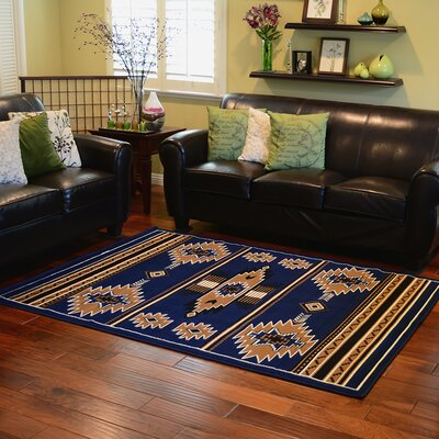 Taj Mahal Navy Blue Area Rug