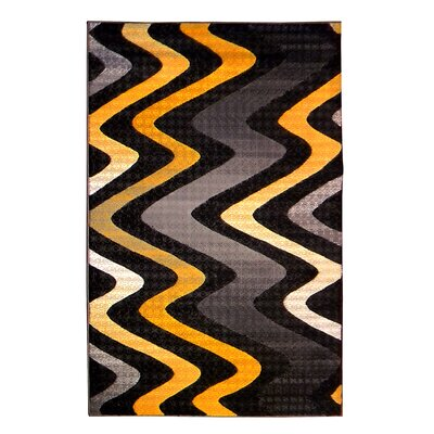 Trendz Black/Yellow Area Rug