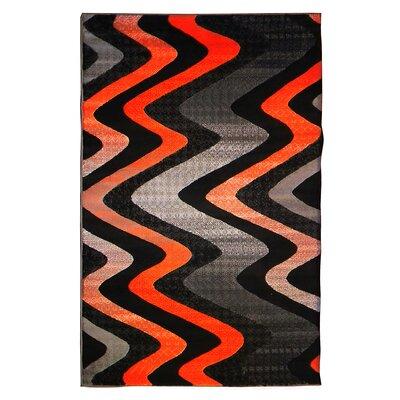 Trendz Gray/Orange Area Rug