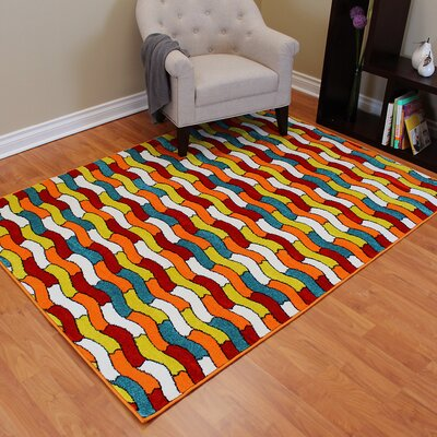 Rainbow Tile Area Rug