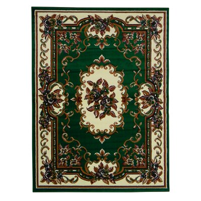 Taj Mahal Hunter Green Area Rug