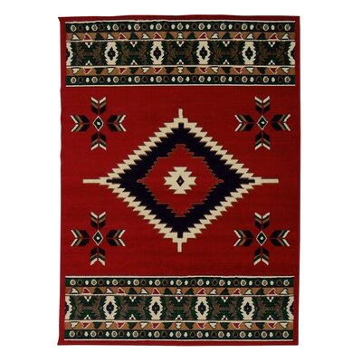 Taj Mahal Red Area Rug