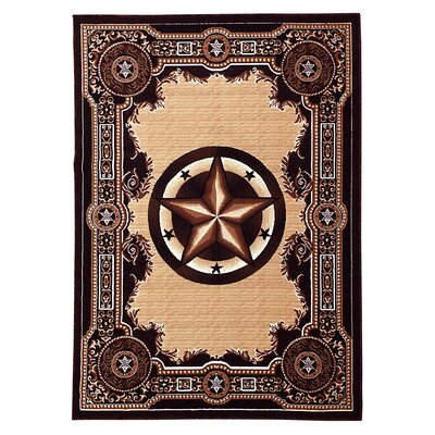 Black/Beige Area Rug