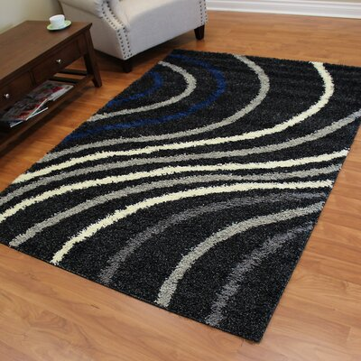Deluxe Black/White Area Rug